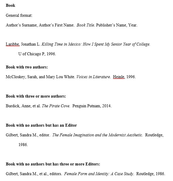 Works Cited Page - MLA Citation Style 8th Edition - LibGuides at ...