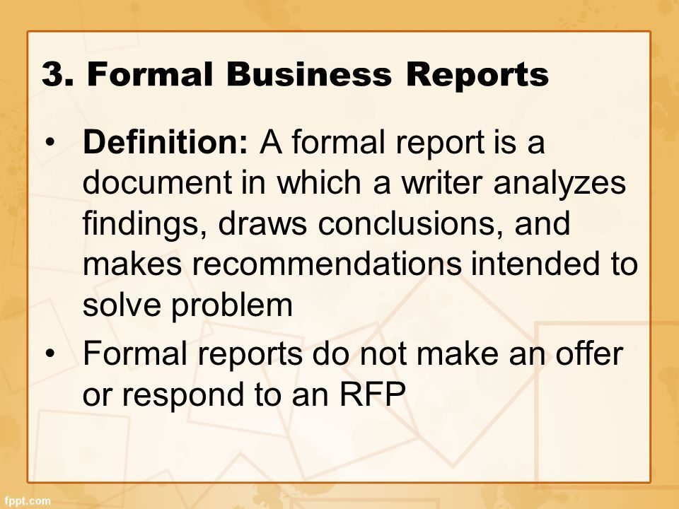 Formal business report definition