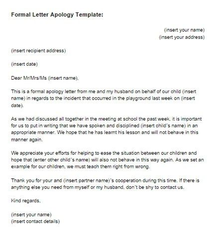 Formal Apology Letter | Custom College Papers