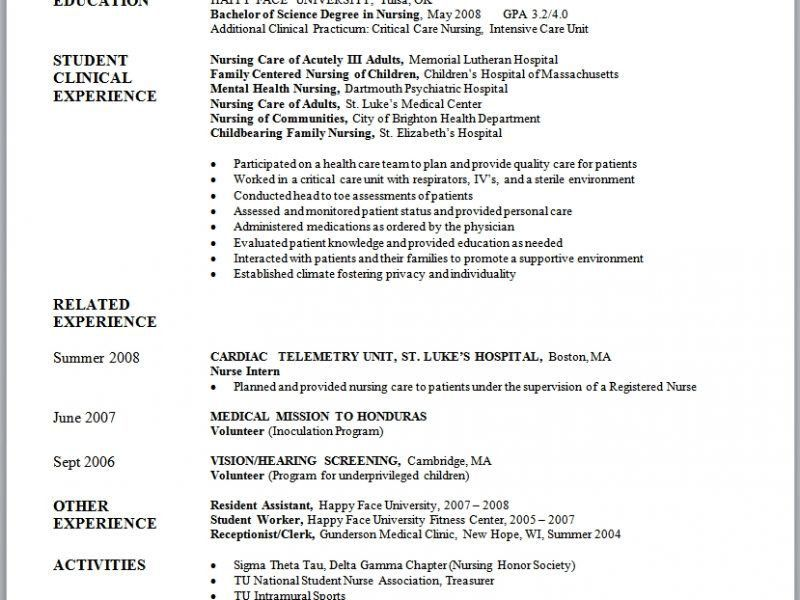 Projects Design Nursing Student Resume Template 14 Objectives For ...
