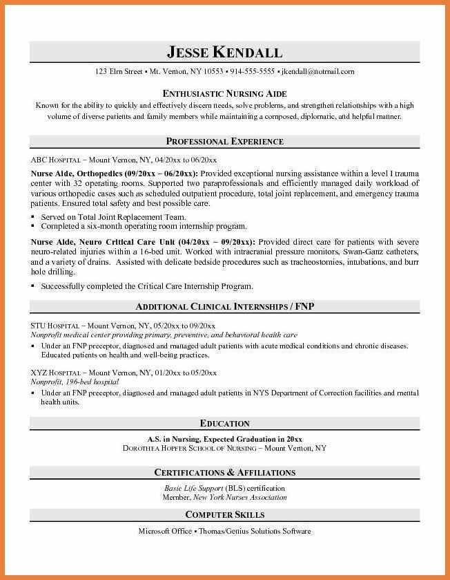 certified nursing assistant cna resume samples and tips templat ...
