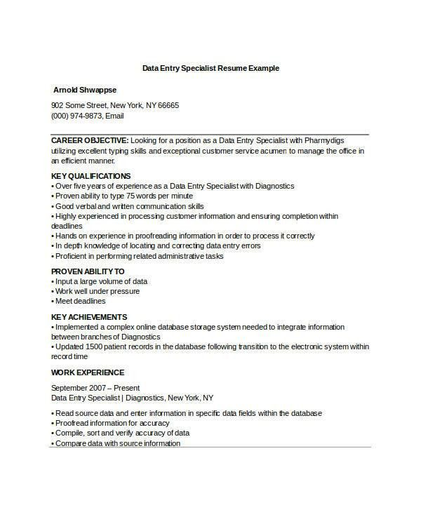 Typing A Resume [Template.billybullock.us ]