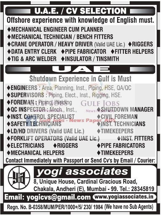 Gulf Jobs News Classifieds 2017-04-01 11:07:00 - JobsChip