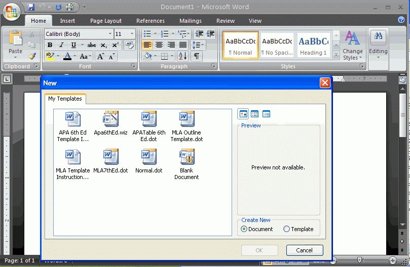 APA template For Word For Windows | Reference Point Software