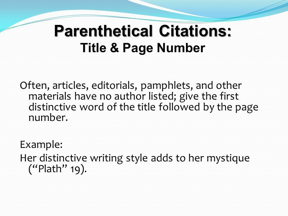 Documentation, MLA Style A guide to in-text and reference citation ...