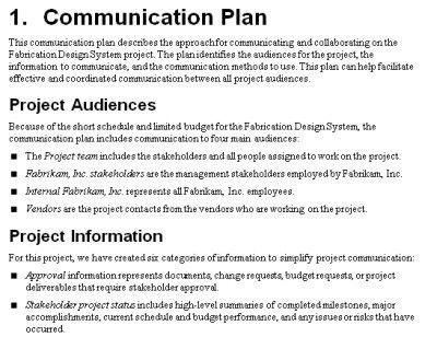 The Project Communication Plan - MPUG