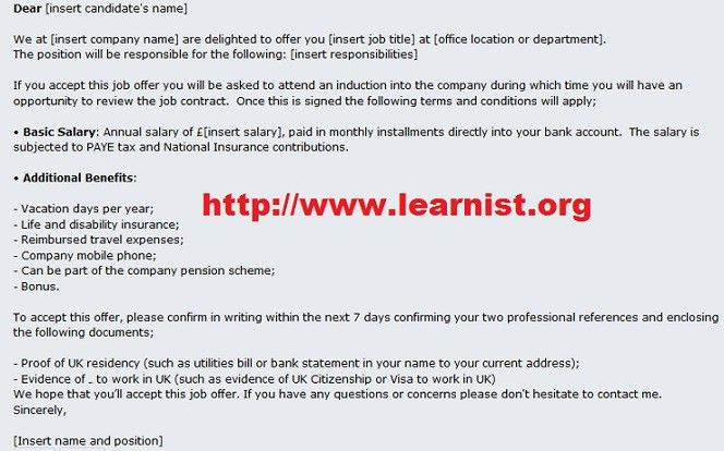 Job Offer Letter Template And Salary Negotation Letter Example ...