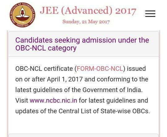 How much old OBC certificate work in JEE Mains and IP university ...