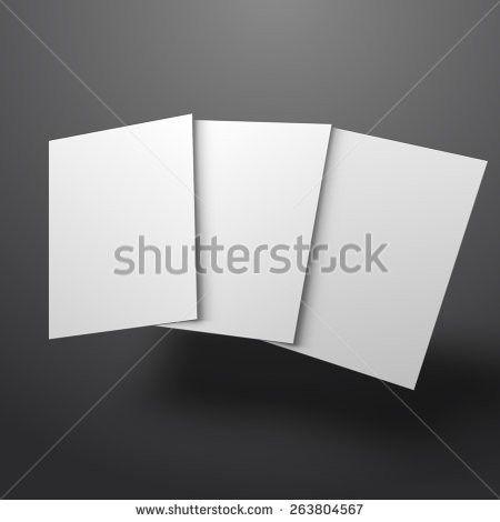 Illustration Blank Brochure 3d Illustration Stock Vector 263804567 ...