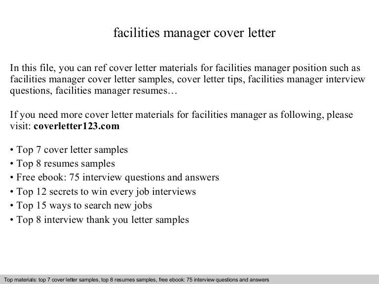 facilities manager resume top 5 facility manager cover letter