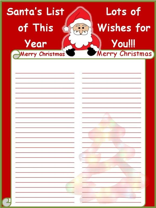 Stunning Christmas Card List Template Gallery - Best Resume ...