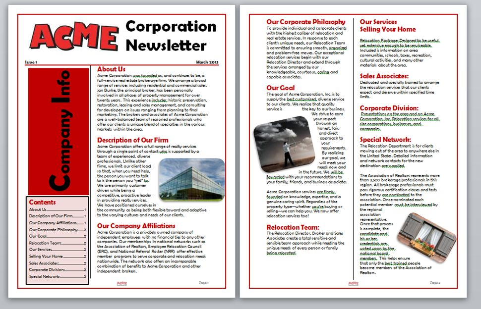 WORD: Creating a Table of Contents for a Newsletter in Word | MOS ...