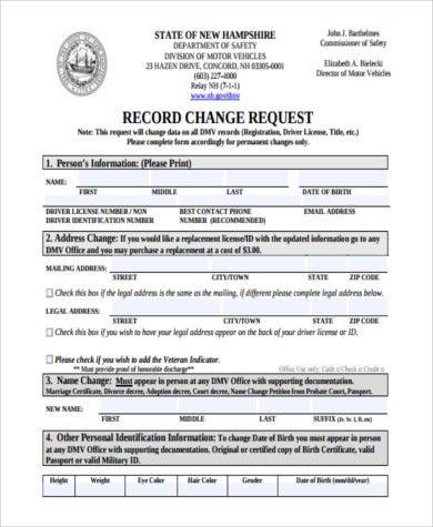 Sample DMV Address Change Form - 6+ Free Documents in PDF
