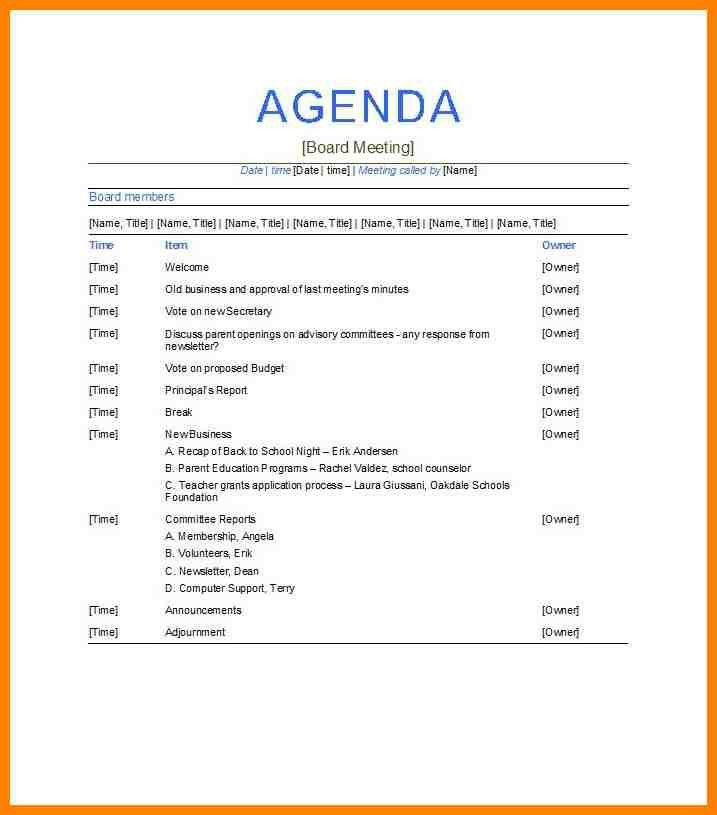 6+ meeting itinerary template | resume emails