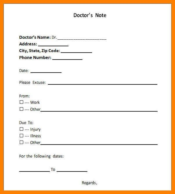 7+ doctor note template | addressing letter