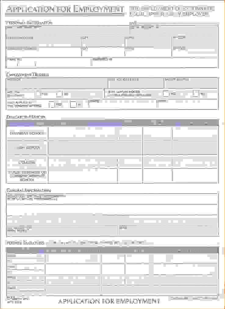 13 Free Printable Job ApplicationsAgenda Template Sample | Agenda ...