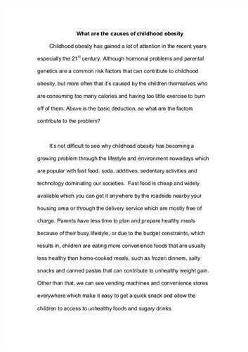 Explication essay example