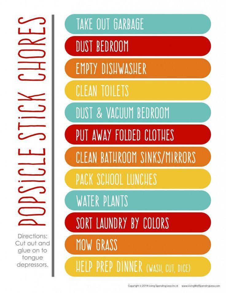 153 best Creative Chore Charts images on Pinterest | Chore ideas ...
