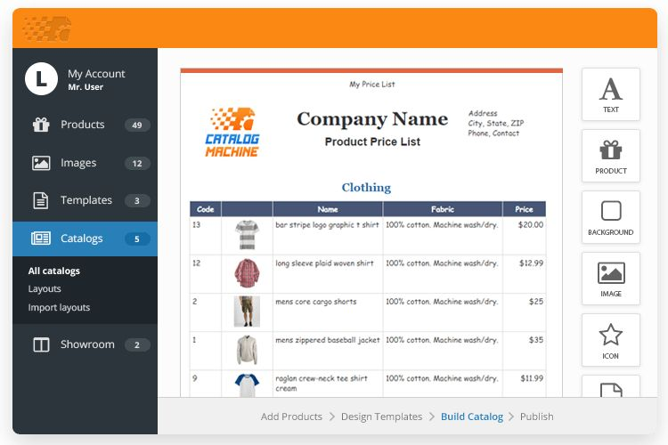 Price List Templates > Easily Create Product Price Lists | Catalog ...