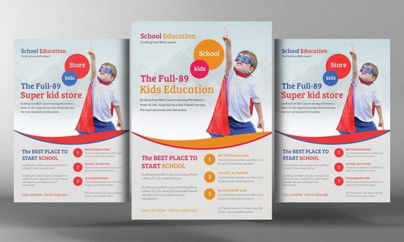 Check out Kids School Education Flyer Template by Business ...