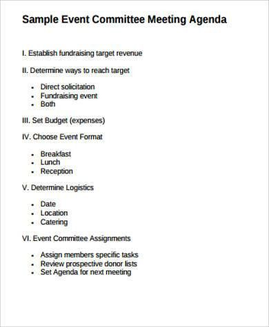 6+ Event Agenda Sample - Free Sample, Example, Format Download