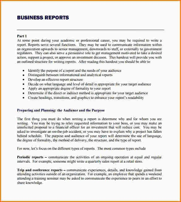 9+ business reports format | paradochart