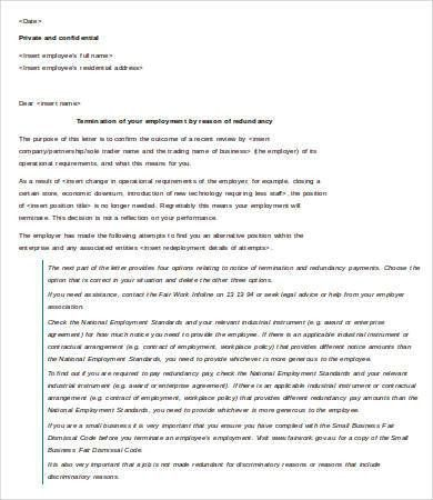 Letter of Termination of Employment Template - 6+ Free Word, PDF ...