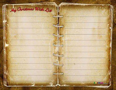 Free Santa's Christmas List - Free printable pdf
