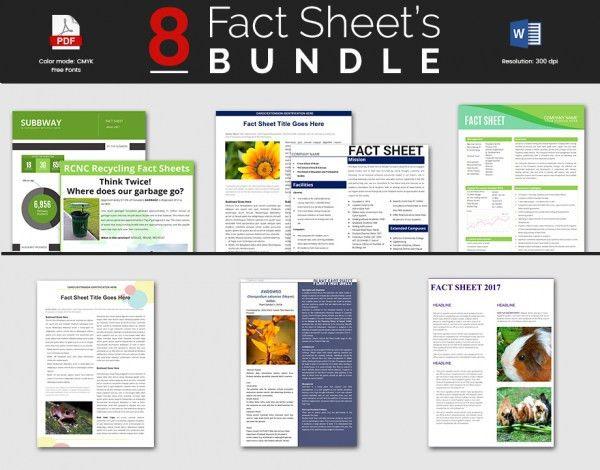 12+ Fact Sheet Templates - Free Sample, Example, Format | Free ...