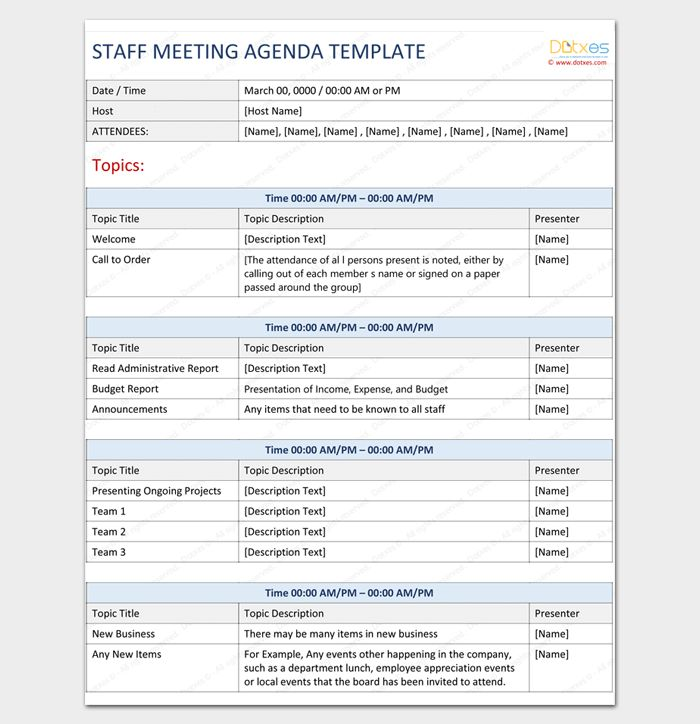 Meeting Outline Template - 13+ Formats, Examples and Samples
