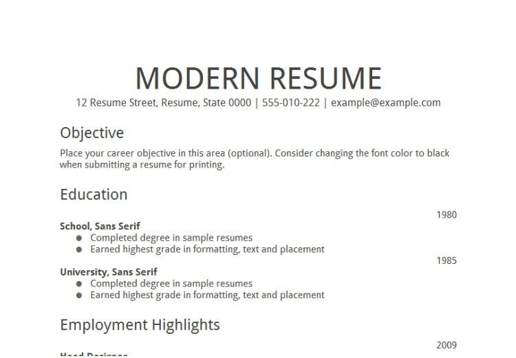 Unthinkable General Resume Objective 13 Samples Sample Fresh ...