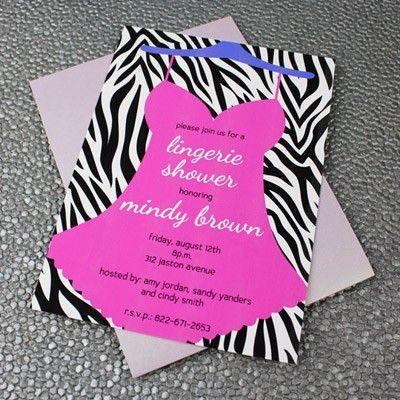 Lingerie Bridal Shower Invitation Template – Download & Print
