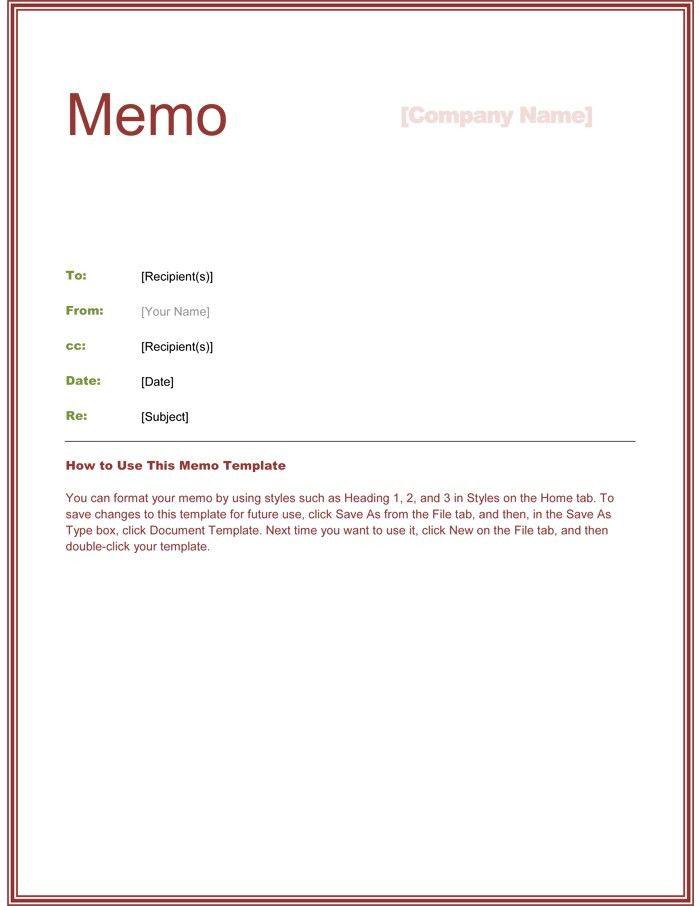 Sample Internal Memo Template. 10+ Sample Memorandum Letter | Rn ...