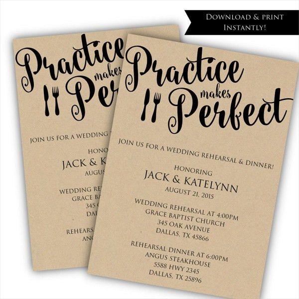 16+ Rehearsal Dinner Invitations - PSD, Vector EPS , AI ...