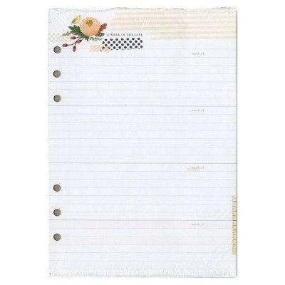 "Color Crush A5 Planner Inserts Memory Keeping-Lined 8.25""x5.75 ..."