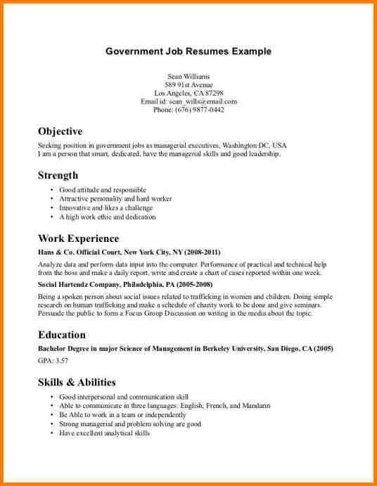 Resume Sample For Undergraduate - Templates