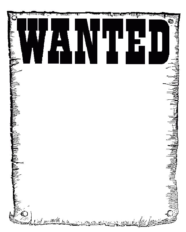 4+ wanted poster template | Receipt Templates