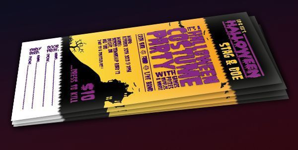 Perfect Halloween themed event tickets! This one is for a ...