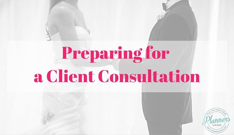 Preparing for a Consultation with a Bride and Groom