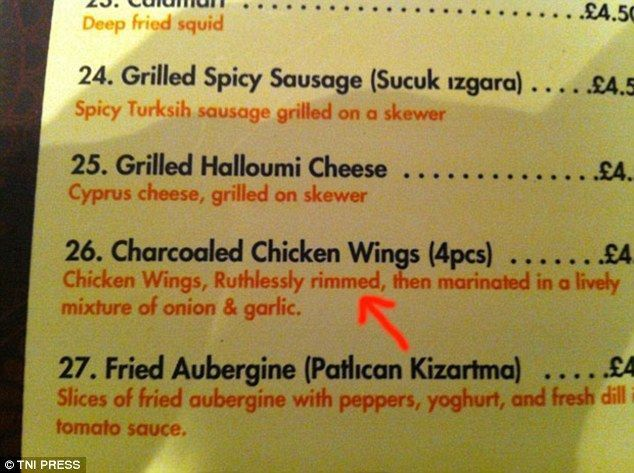 Are these the funniest menu spelling mistakes EVER? | Menu and ...