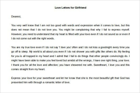 Love Letters – 11+ Free Word Documents Download! | Free & Premium ...