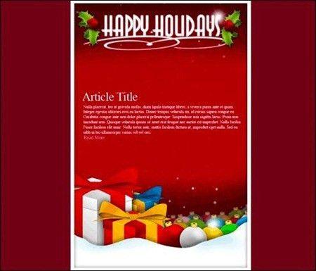 Free Html Christmas Email Templates - Christmas Tree
