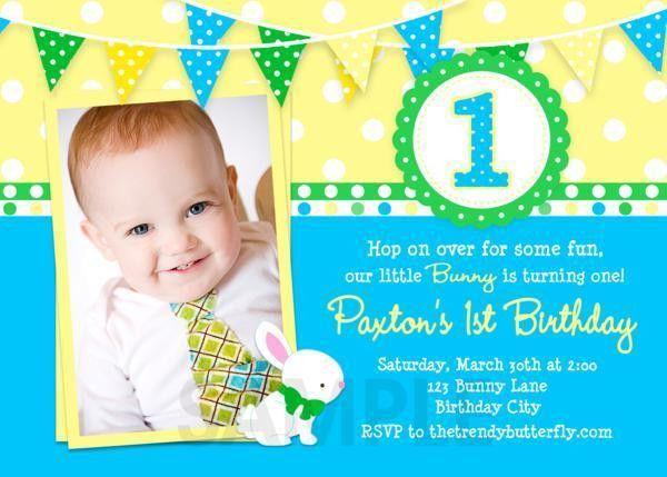 Baby Boy 1st Birthday Invitation Templates | Invitation Ideas