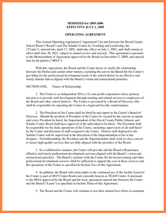 9+ operating agreement corporation template | Purchase Agreement Group