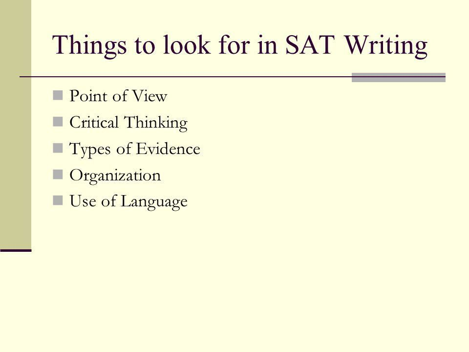 Writing Suggestions: SAT Essays - ppt download