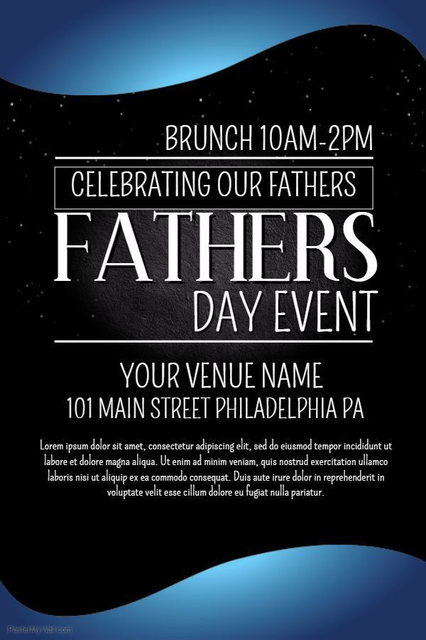 17 best Father's Day Poster Templates images on Pinterest ...