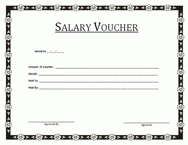 Salary Voucher Template - By Payslipstemplates.com