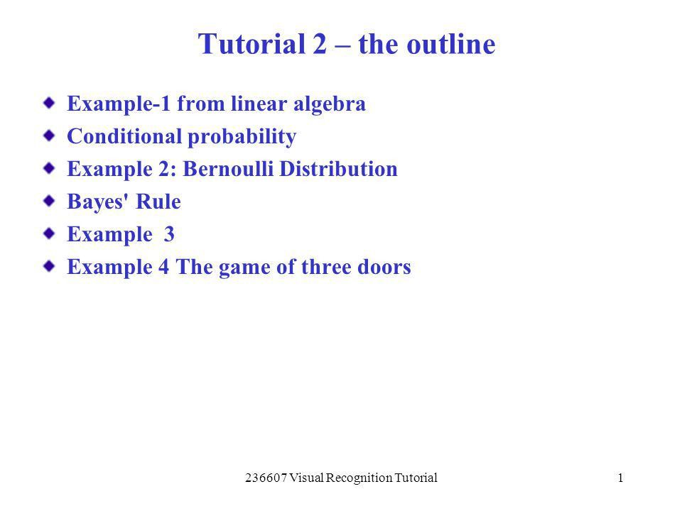 Visual Recognition Tutorial - ppt download