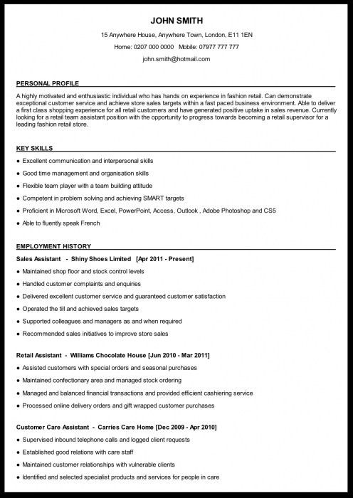 How To Write Out A Resume Perfect Resume For A Recent College
