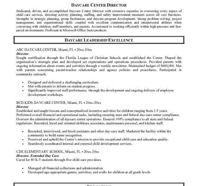 Resume For Child Care Job - Resume CV Cover Letter